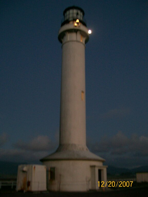 Point Arena Lighthouse by moonlight